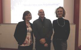 Left to right: Dr Nora Manzk (EU Liaison Officer, University of Duisburg-Essen), Ingo Trempek (Eurice), Prof. Dr Uta Dirksen (Medical Faculty, University of Duisburg-Essen)