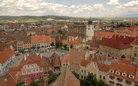 Beautiful historic city of Sibiu, Romania
