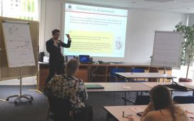Eurice IP-expert Michele Dubbini during the 1st RELEVANCE Training School