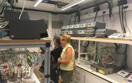 The meeting also included a lab tour