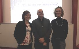 Left to right: Dr Nora Manzk (EU Liaison Officer, University of Duisburg-Essen), Ingo Trempek (Eurice), Prof. Dr Uta Dirksen (Medical Faculty, University of Duisburg-Essen)