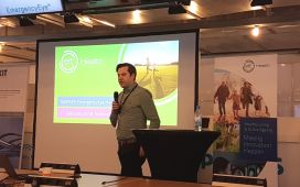 Jan-Philipp Beck from EIT Health holding a key note at the Hackathon