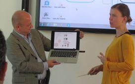 Paper-clip presentation against technical odds