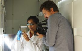 Filming with PhD Candidate Shreya in Potsdam