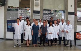 The complete lab team at RHUL