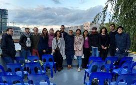 circRTrain PhD students exploring Berlin by boat
