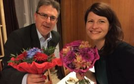 Dr Michele Penza, ENEA (COST Action Chair) and Juliane Roßbach, Eurice (Grant Holder Manager)