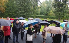 DISCO partners defying the rain in autumnal Berlin and exploring the historical campus Berlin-Dahlem
